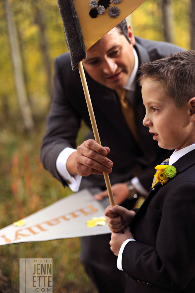 ceremony flags ring bearer wedding pictures